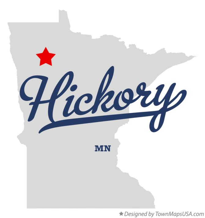Map of Hickory Minnesota MN