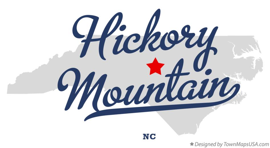 Map of Hickory Mountain North Carolina NC