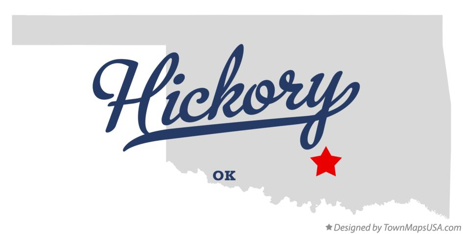 Map of Hickory Oklahoma OK