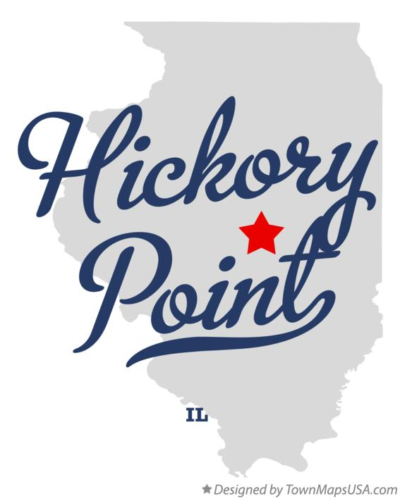 Map of Hickory Point Illinois IL