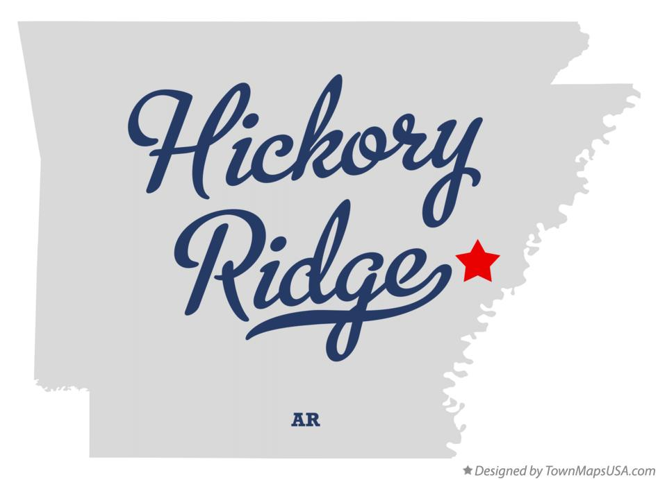 Map of Hickory Ridge Arkansas AR
