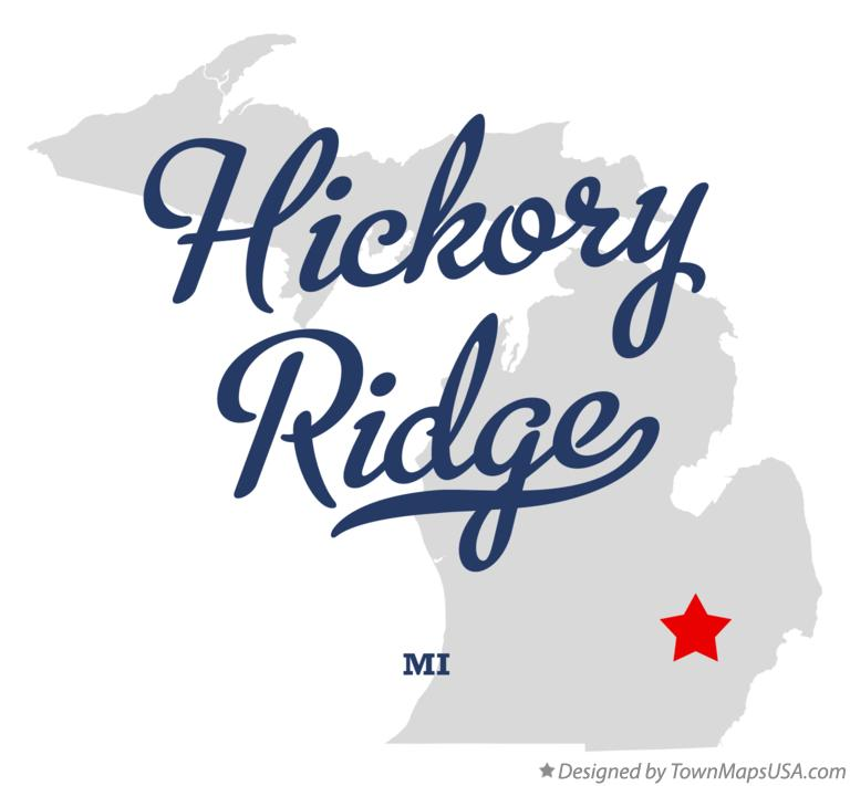 Map of Hickory Ridge Michigan MI