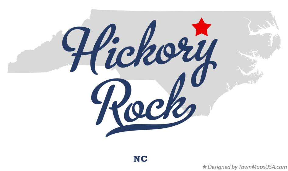 Map of Hickory Rock North Carolina NC