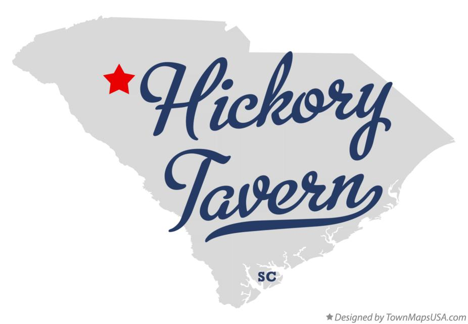 Map of Hickory Tavern South Carolina SC