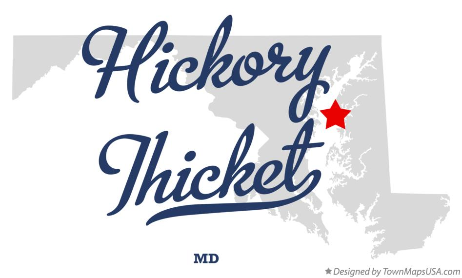Map of Hickory Thicket Maryland MD