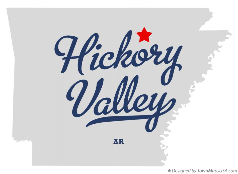 Map of Hickory Valley Arkansas AR