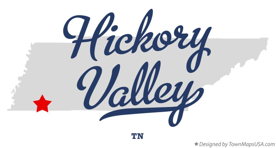 Map of Hickory Valley Tennessee TN