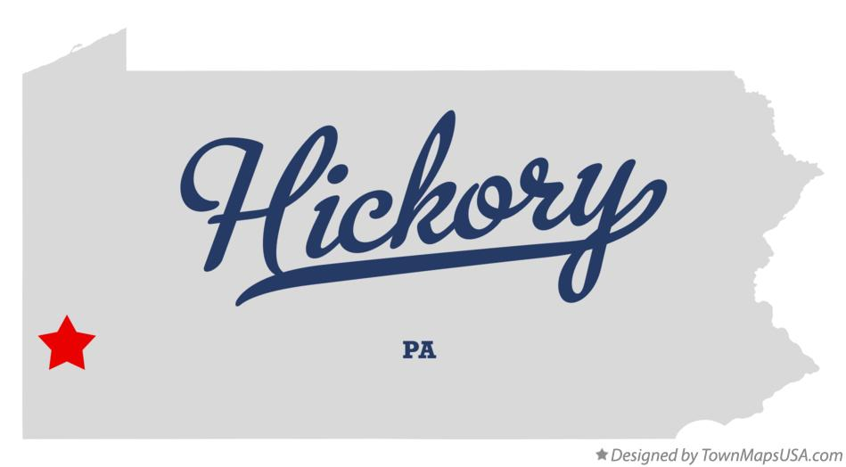 Map of Hickory Pennsylvania PA