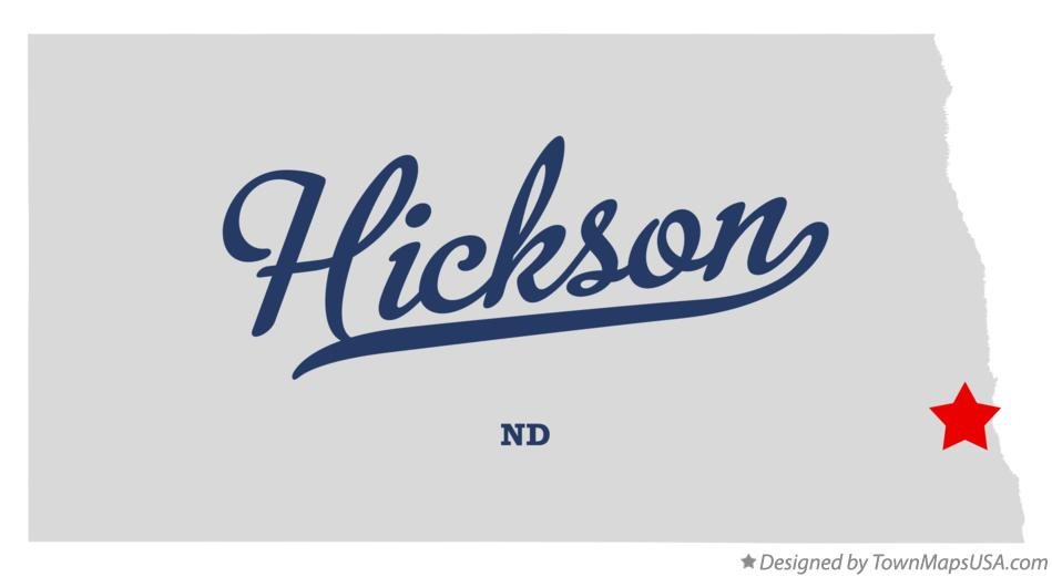 Map of Hickson North Dakota ND
