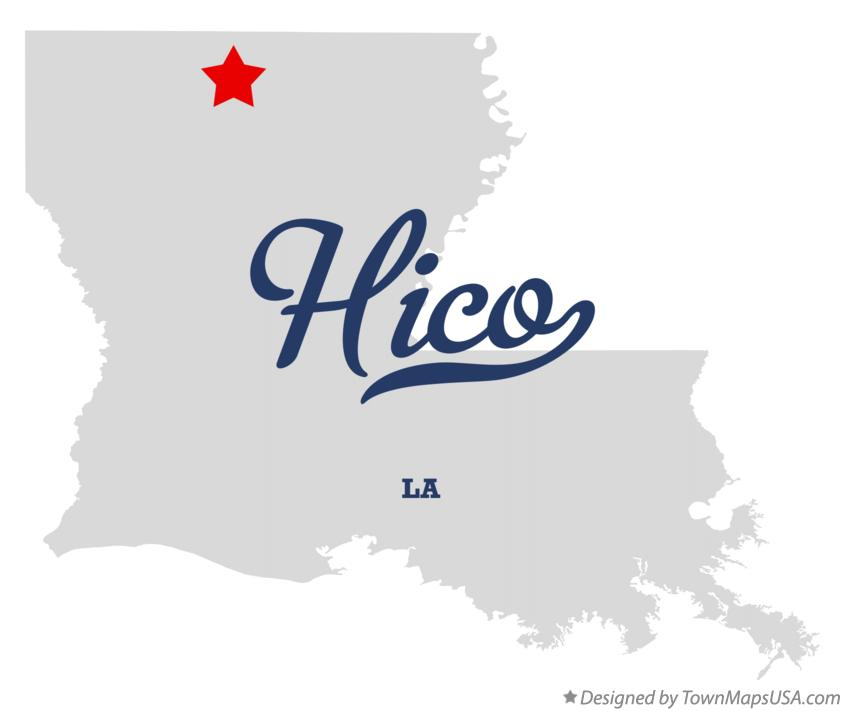 Map of Hico Louisiana LA