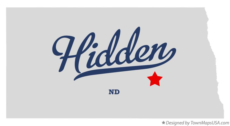 Map of Hidden North Dakota ND