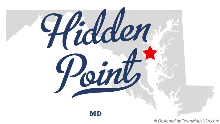 Map of Hidden Point Maryland MD
