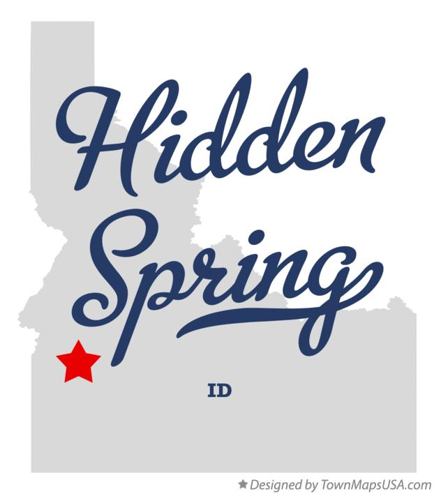 Map of Hidden Spring Idaho ID