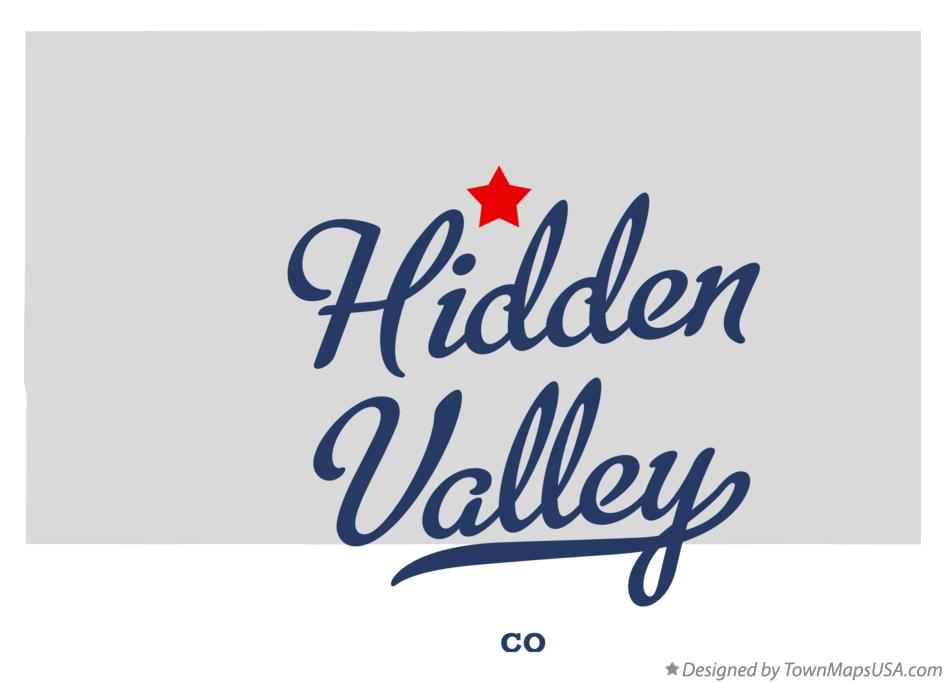 Map of Hidden Valley Colorado CO
