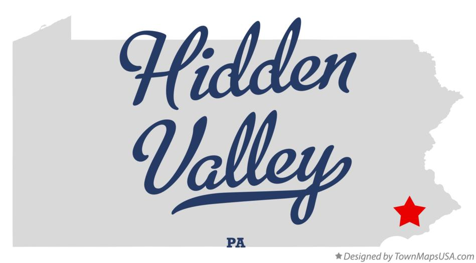 Map of Hidden Valley Pennsylvania PA