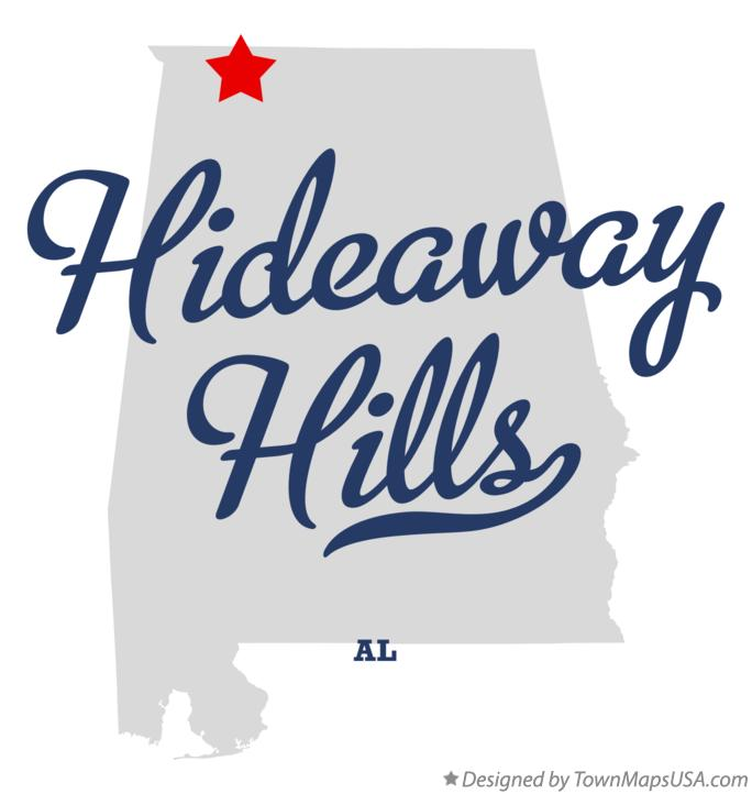 Map of Hideaway Hills Alabama AL