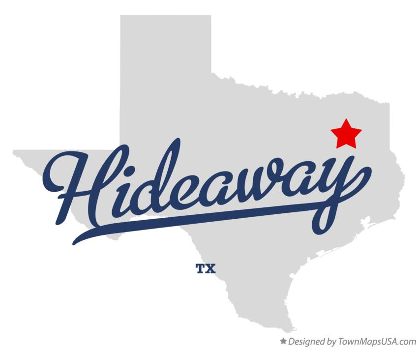 Map of Hideaway Texas TX