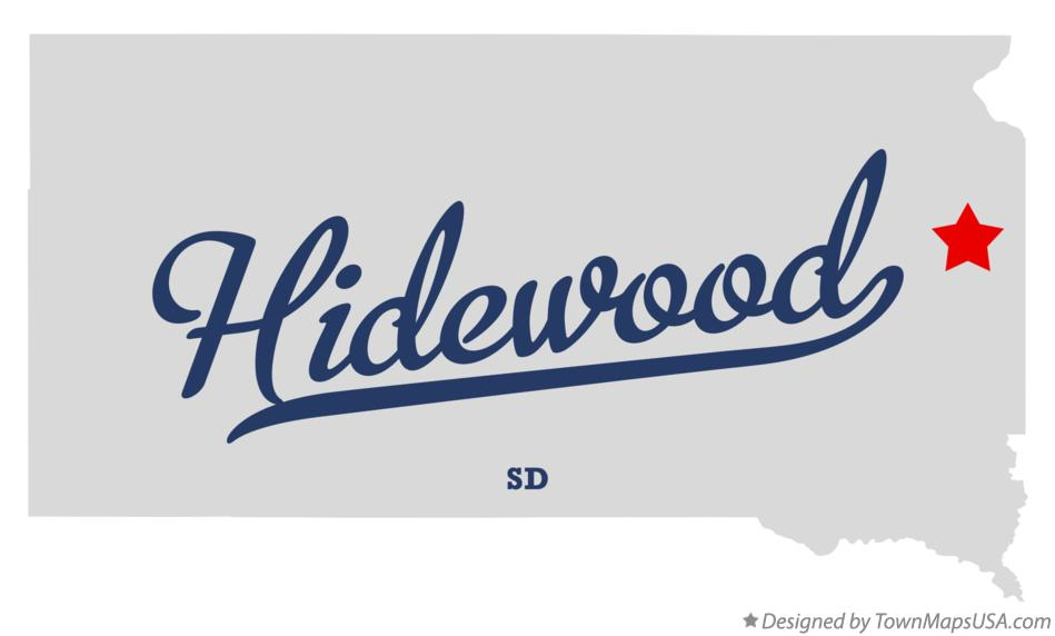 Map of Hidewood South Dakota SD