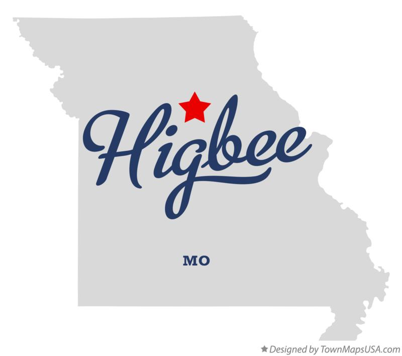 Map of Higbee Missouri MO