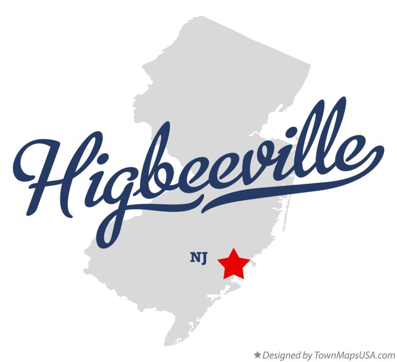 Map of Higbeeville New Jersey NJ