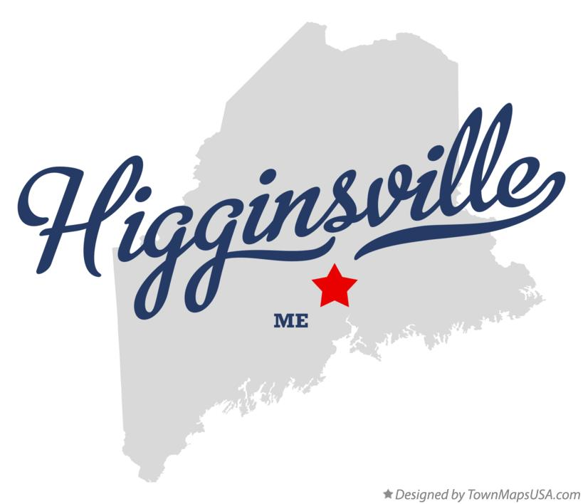 Map of Higginsville Maine ME