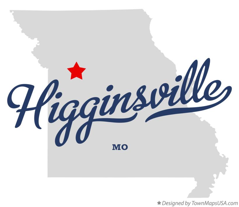 Map of Higginsville Missouri MO