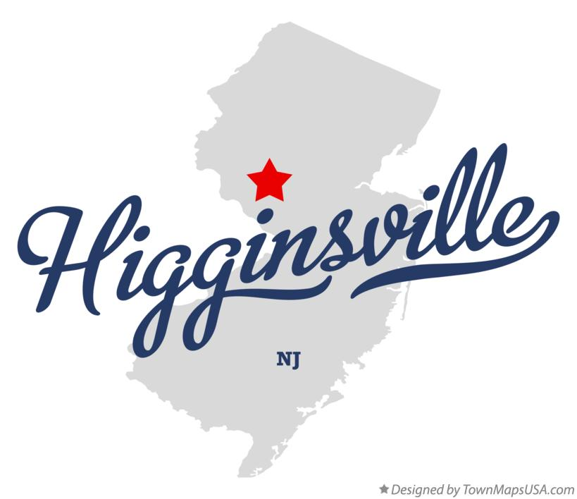 Map of Higginsville New Jersey NJ