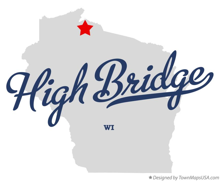 Map of High Bridge Wisconsin WI