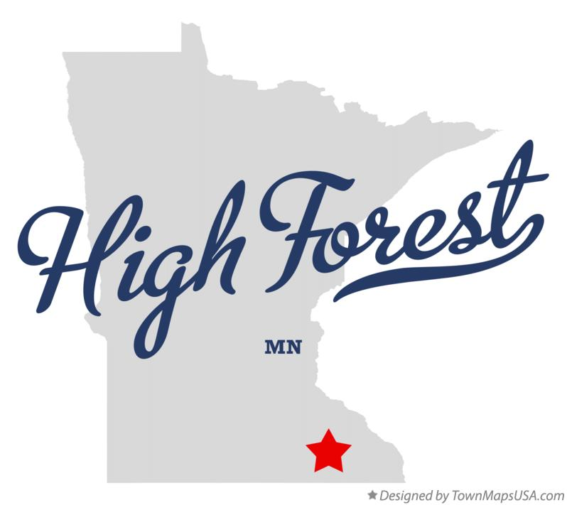 Map of High Forest Minnesota MN