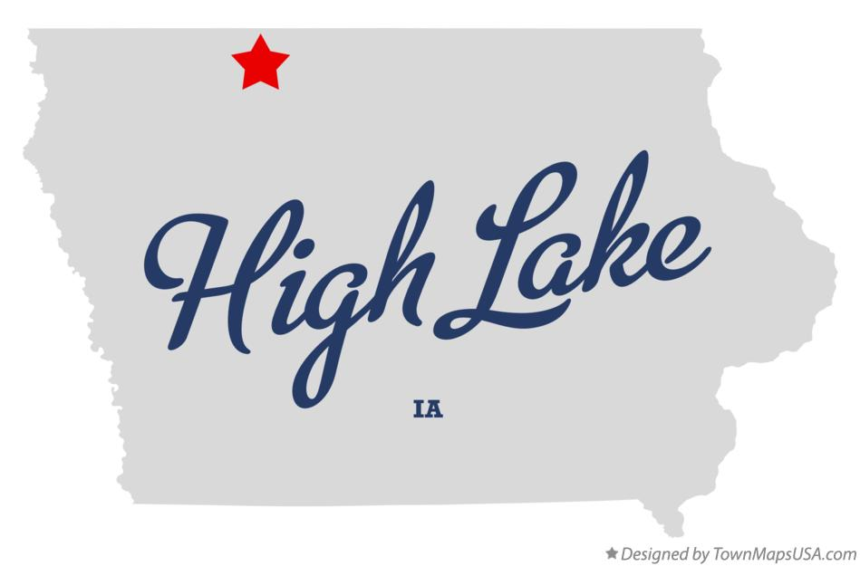 Map of High Lake Iowa IA