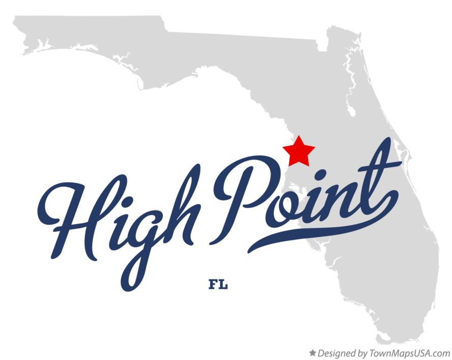 Map of High Point Florida FL