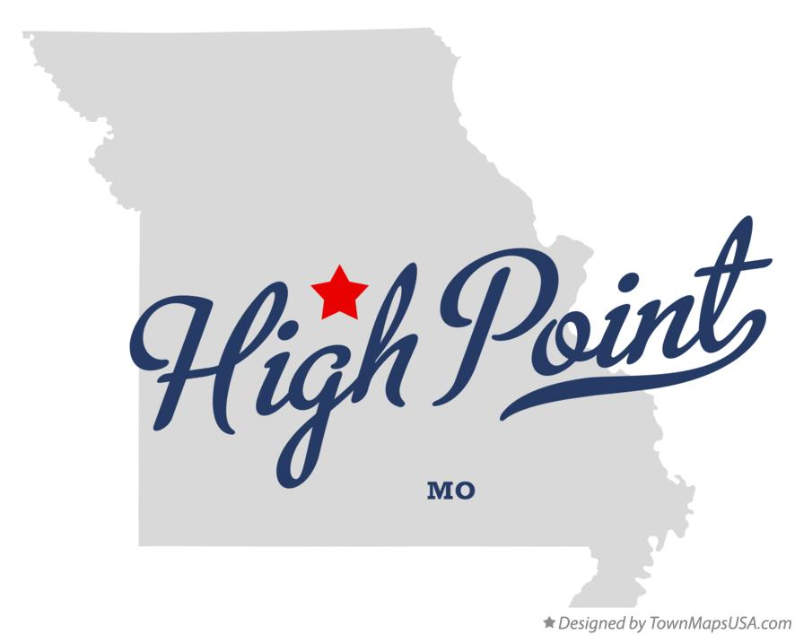 Map of High Point Missouri MO
