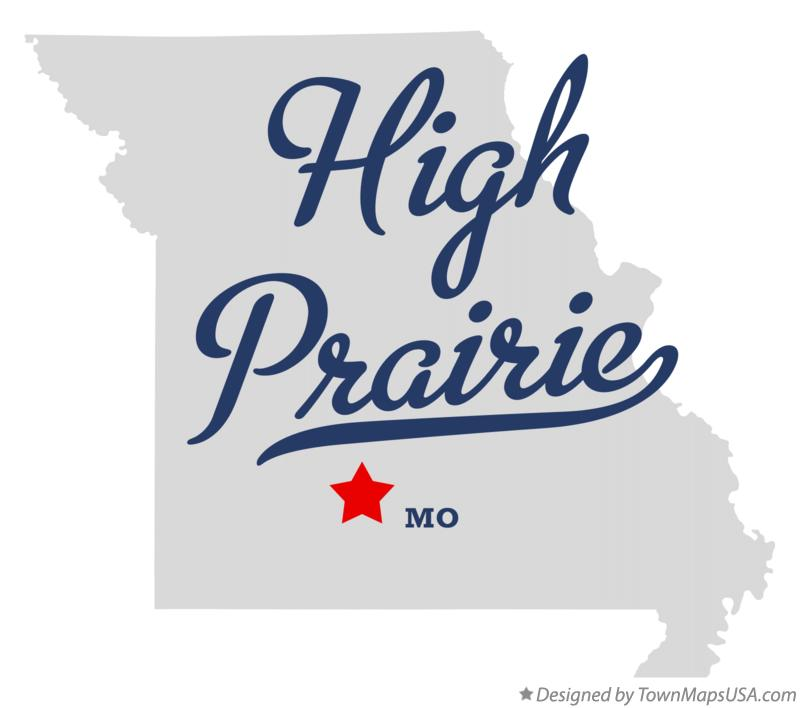 Map of High Prairie Missouri MO