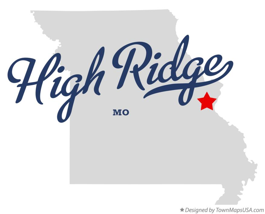 Map of High Ridge Missouri MO