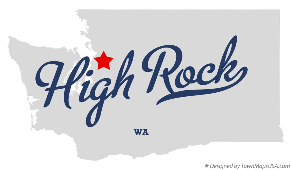 Map of High Rock Washington WA