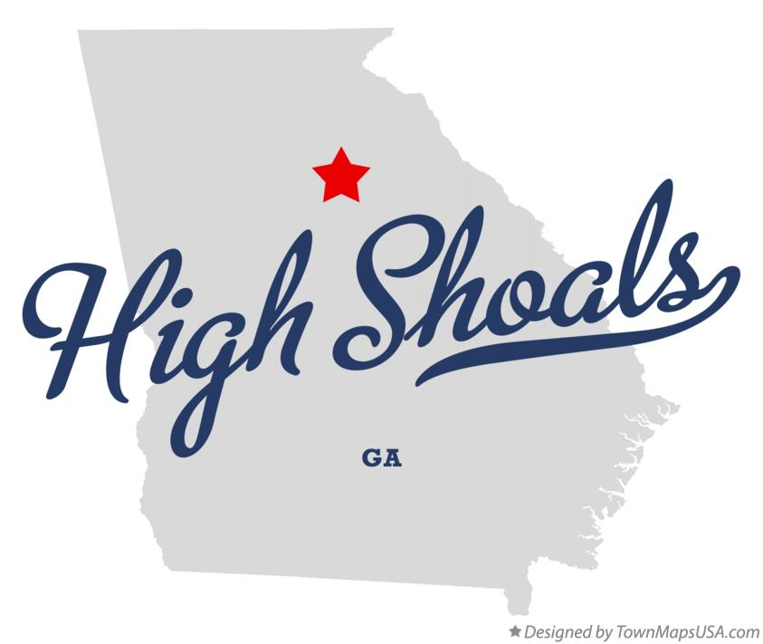 Map of High Shoals Georgia GA