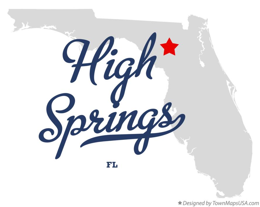Map of High Springs Florida FL