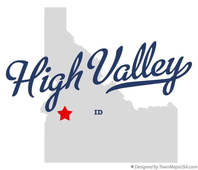 Map of High Valley Idaho ID