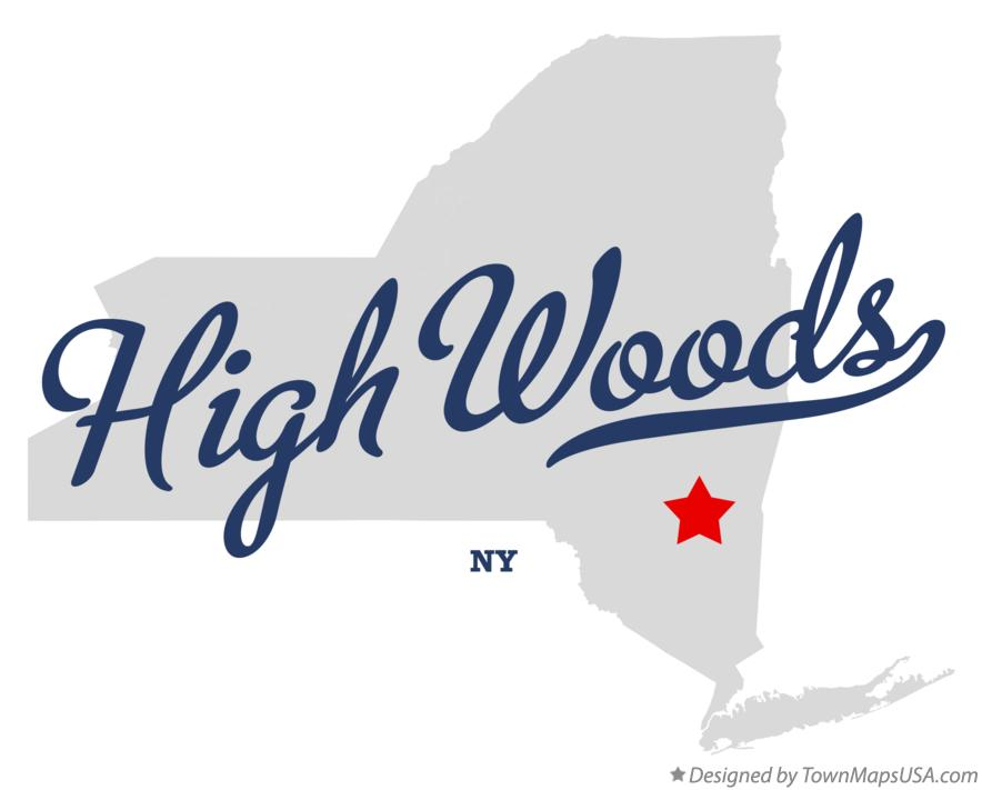Map of High Woods New York NY