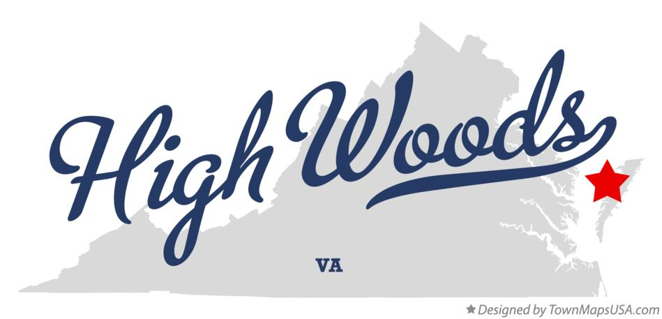 Map of High Woods Virginia VA