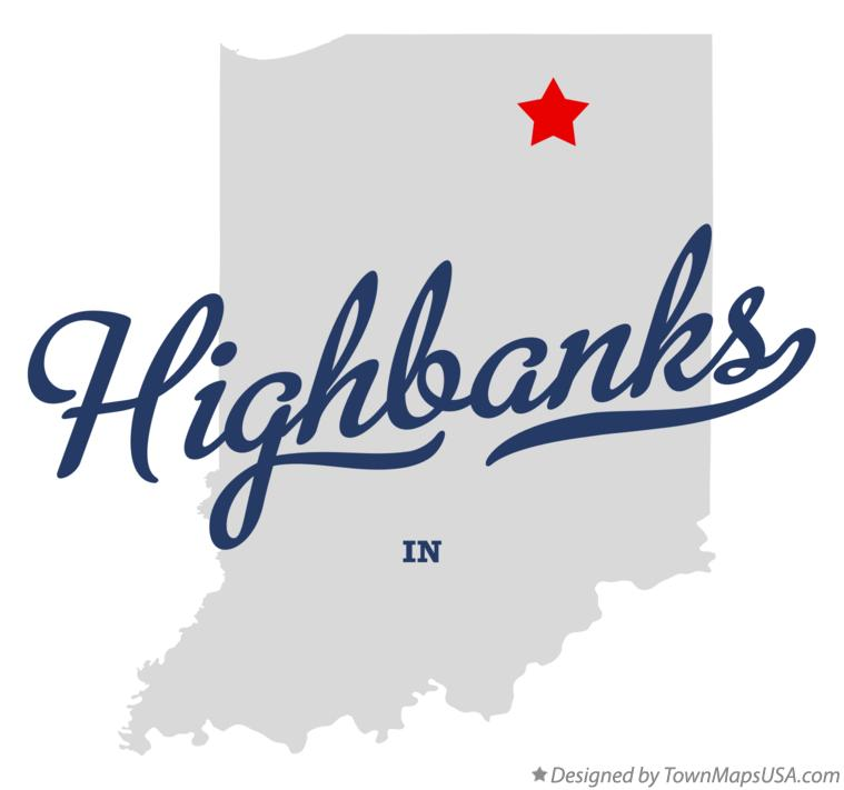 Map of Highbanks Indiana IN