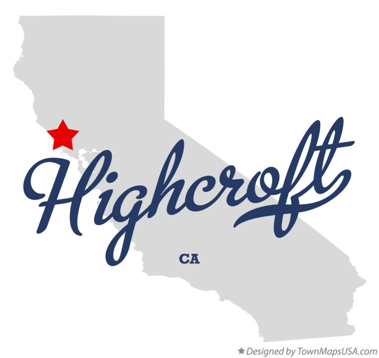 Map of Highcroft California CA