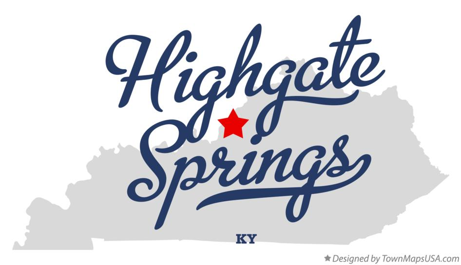 Map of Highgate Springs Kentucky KY