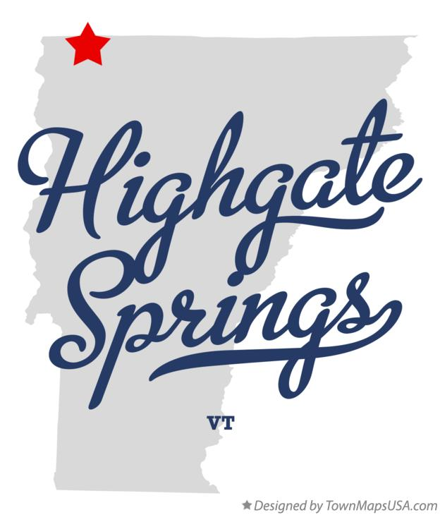 Map Of Highgate Springs Vt Vermont: Map Of Highgate Vermont At Usa Maps