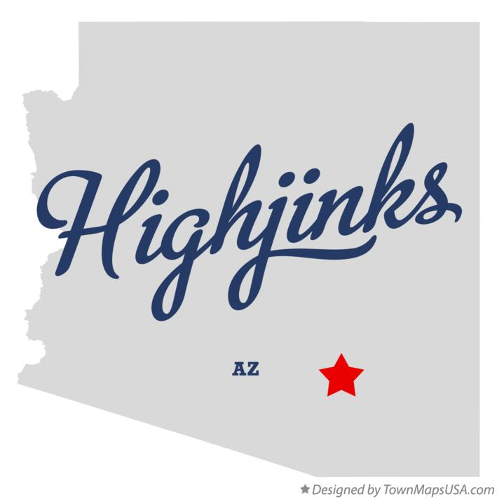 Map of Highjinks Arizona AZ