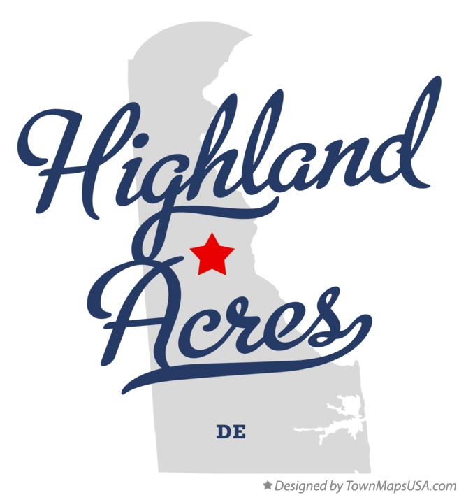 Map of Highland Acres Delaware DE