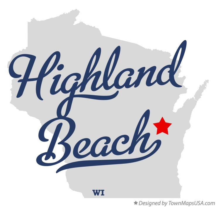 Map of Highland Beach Wisconsin WI