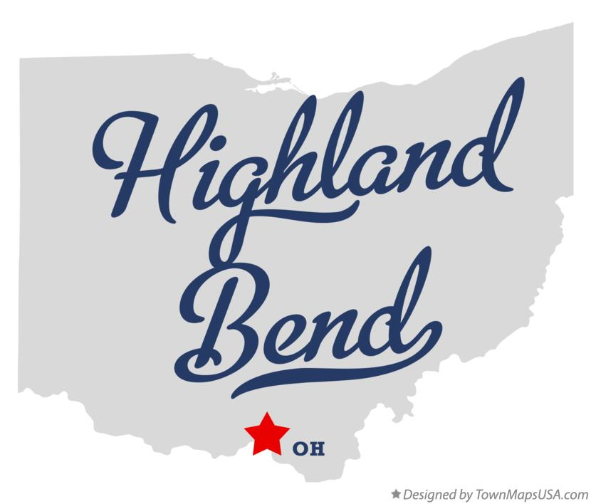 Map of Highland Bend Ohio OH