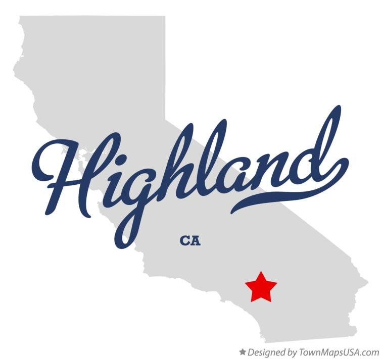 Map of Highland California CA