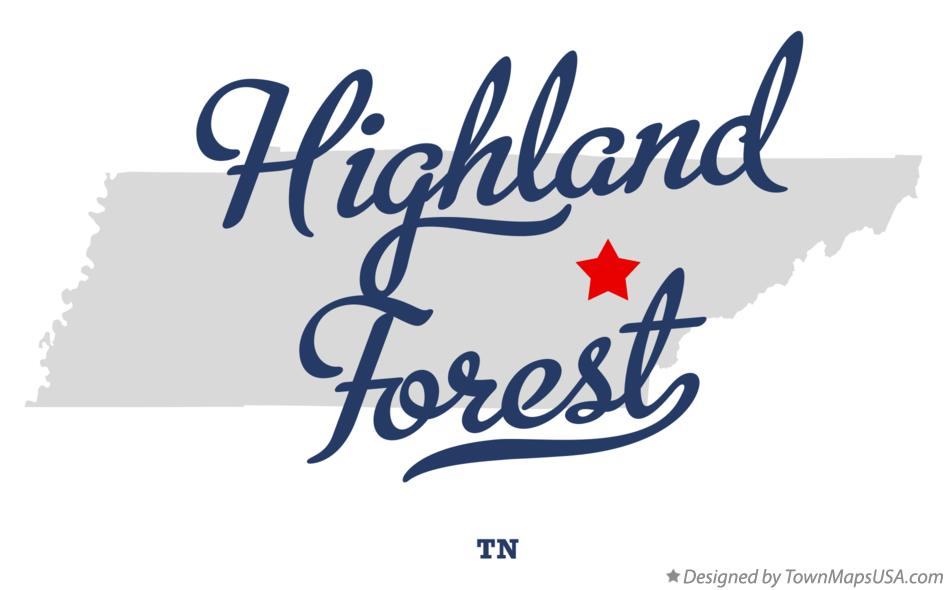 Map of Highland Forest Tennessee TN
